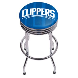Los Angeles Clippers Padded Ribbed Bar Stool