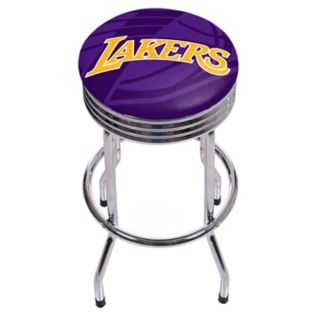 Los Angeles Lakers Padded Ribbed Bar Stool