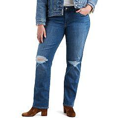 Plus Size Levi's 414 Classic Fit Midrise Straight-Leg Jeans