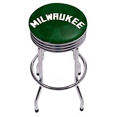 Milwaukee Bucks Padded Ribbed Bar Stool