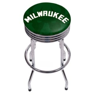 Milwaukee Bucks Padded Ribbed Bar Stool