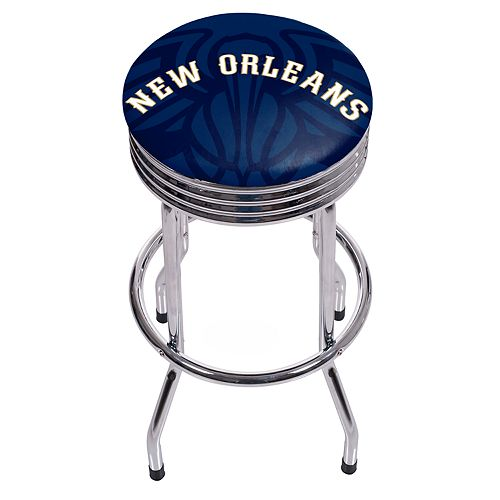New Orleans Pelicans Padded Ribbed Bar Stool