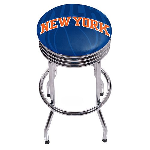 New York Knicks Padded Ribbed Bar Stool