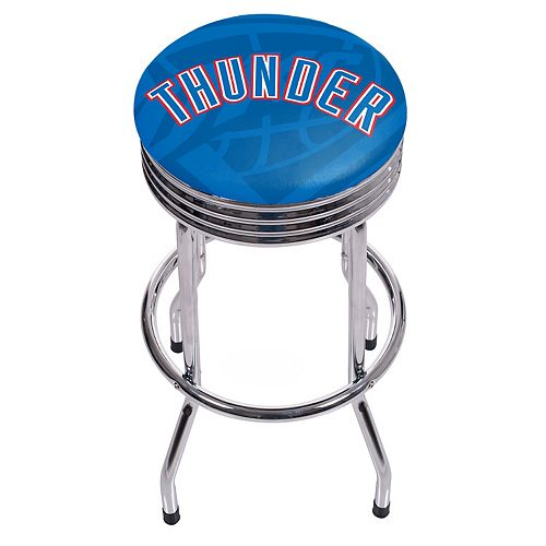 Oklahoma City Thunder Padded Ribbed Bar Stool