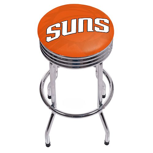 Phoenix Suns Padded Ribbed Bar Stool