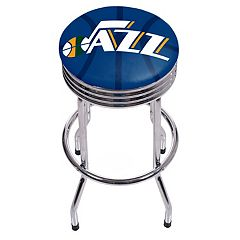Utah Jazz Padded Ribbed Bar Stool