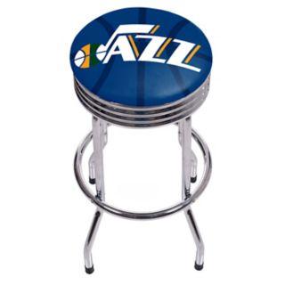 Utah Jazz Padded Ribbed Bar Stool