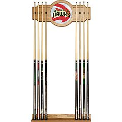 Atlanta Hawks Logo Framed Mirror Pool Cue Holder