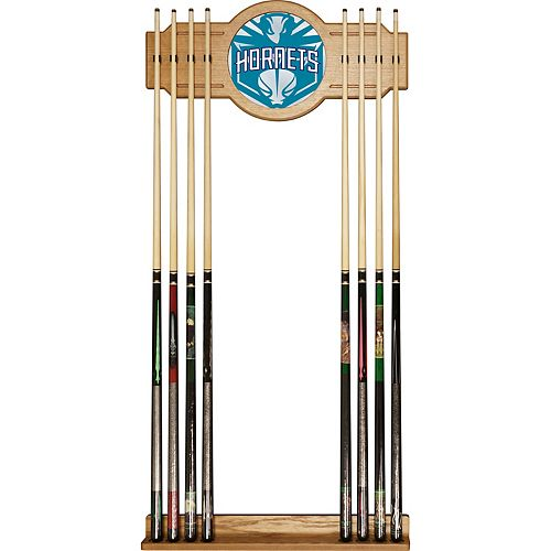 Charlotte Hornets Logo Framed Mirror Pool Cue Holder