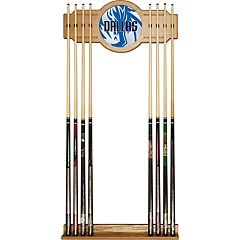 Dallas Mavericks Logo Framed Mirror Pool Cue Holder