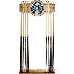Denver Nuggets Logo Framed Mirror Pool Cue Holder
