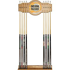 Indiana Pacers Logo Framed Mirror Pool Cue Holder