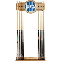 Los Angeles Clippers Logo Framed Mirror Pool Cue Holder
