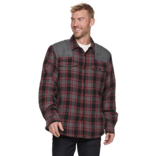 Men's Coleman Classic-Fit Plaid Sherpa-Lined Shirt Jacket
