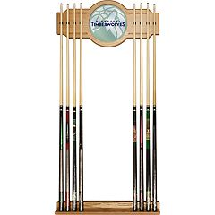 Minnesota Timberwolves Logo Framed Mirror Pool Cue Holder