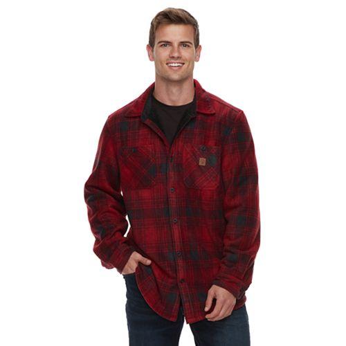 Men's Coleman Sherpa-Lined Fleece Button-Down Shirt