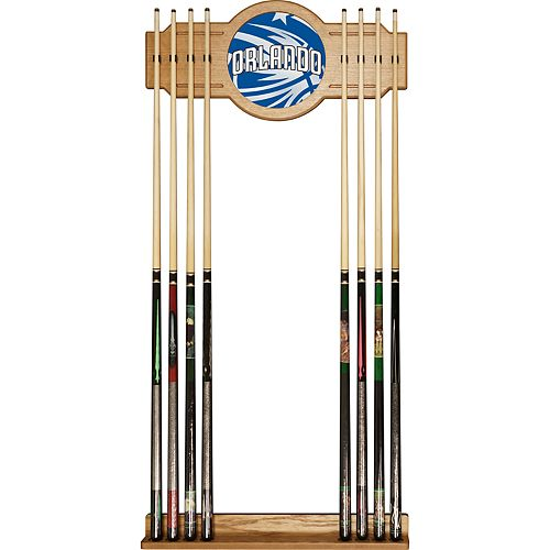 Orlando Magic Logo Framed Mirror Pool Cue Holder