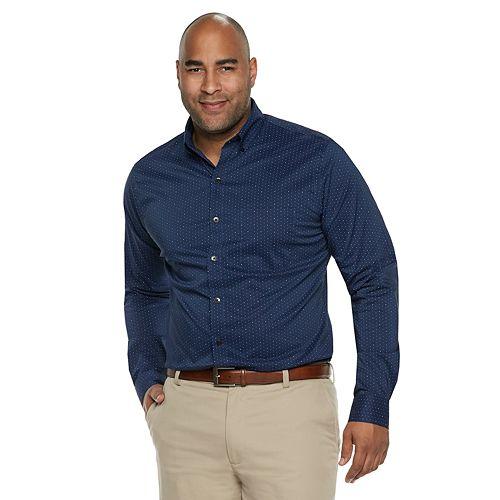 Big & Tall Van Heusen Flex Non-Iron Classic-Fit Button-Down Shirt
