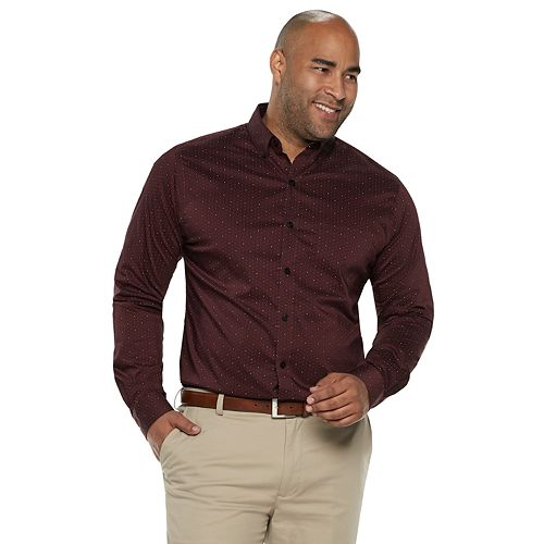 Big & Tall Van Heusen Flex Non-Iron Classic-Fit Button-Down Shirt