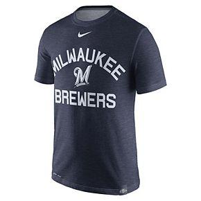 Men's Nike Milwaukee Brewers Dri-Fit Slub Tee