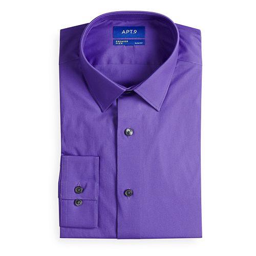 Men's Apt. 9® Slim-Fit Flex Collar Dress Shirt
