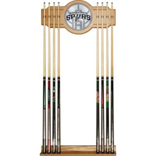 San Antonio Spurs Logo Framed Mirror Pool Cue Holder