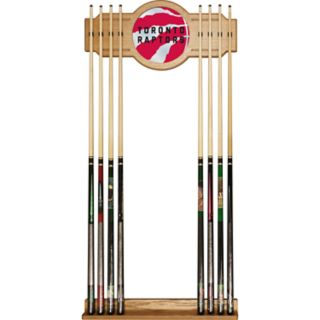 Toronto Raptors Logo Framed Mirror Pool Cue Holder