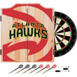 Atlanta Hawks Wood Dart Cabinet Set