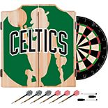 Boston Celtics Wood Dart Cabinet Set