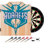 Charlotte Hornets Wood Dart Cabinet Set
