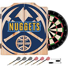 Denver Nuggets Wood Dart Cabinet Set