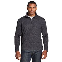 Big & Tall Van Heusen Flex Quarter-Zip Fleece Pullover