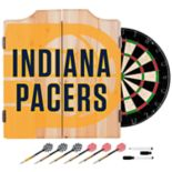 Indiana Pacers Wood Dart Cabinet Set