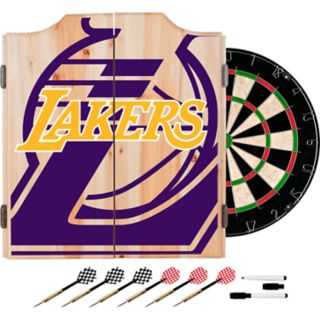 Los Angeles Lakers Wood Dart Cabinet Set