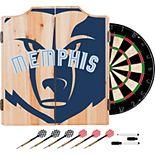 Memphis Grizzlies Wood Dart Cabinet Set