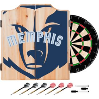 Memphis Grizzlies Wood Dart Cabinet Set