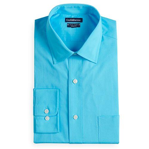 Men's Croft & Barrow® Regular-Fit Easy-Care Spread-Collar Dress Shirt