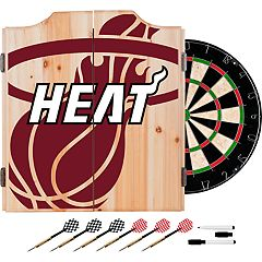 Miami Heat Wood Dart Cabinet Set