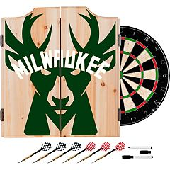 Milwaukee Bucks Wood Dart Cabinet Set