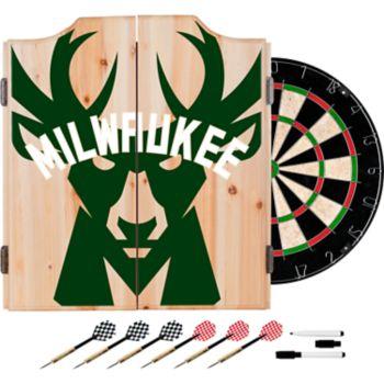 Milwaukee Bucks Wood Dart Cabinet Set