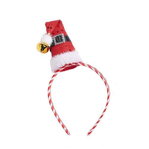 Santa Hat & Candy Cane Headband