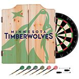Minnesota Timberwolves Wood Dart Cabinet Set