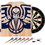 New Orleans Pelicans Wood Dart Cabinet Set