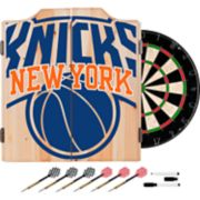 New York Knicks Wood Dart Cabinet Set