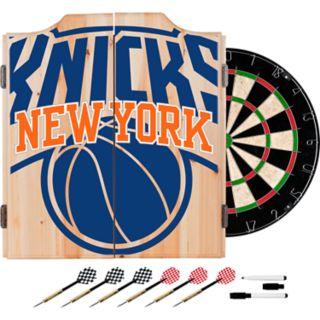 New York Knicks Wood Dart Cabinet Set