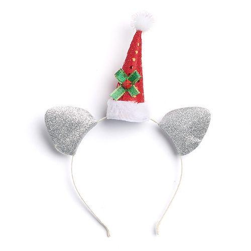 Christmas Hat & Mouse Ears Headband