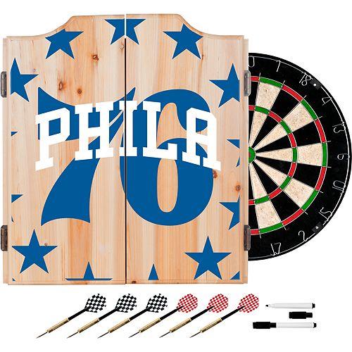 Philadelphia 76ers Wood Dart Cabinet Set