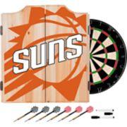 Phoenix Suns Wood Dart Cabinet Set