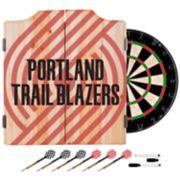 Portland Trail Blazers Wood Dart Cabinet Set