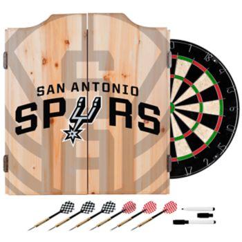 San Antonio Spurs Wood Dart Cabinet Set